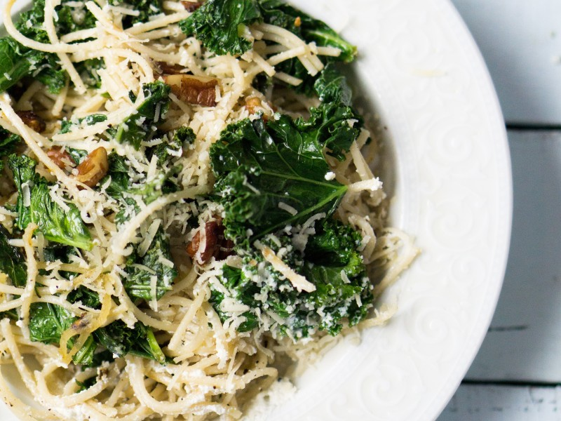 Kale and Ricotta Pasta