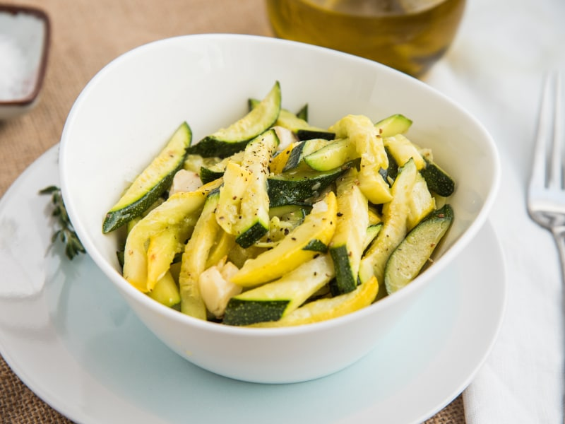 Roasted Garlic and Zucchini Medley
