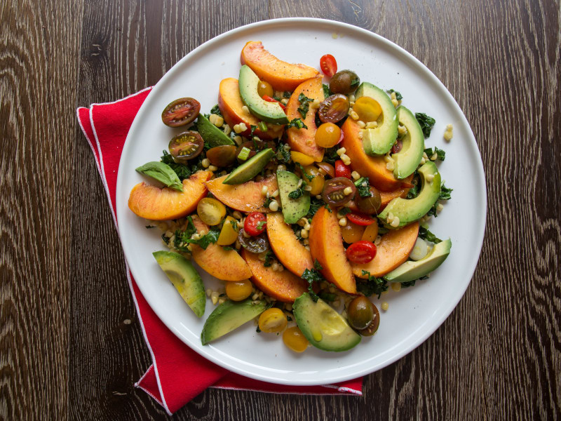Summer Corn and Nectarine Salad