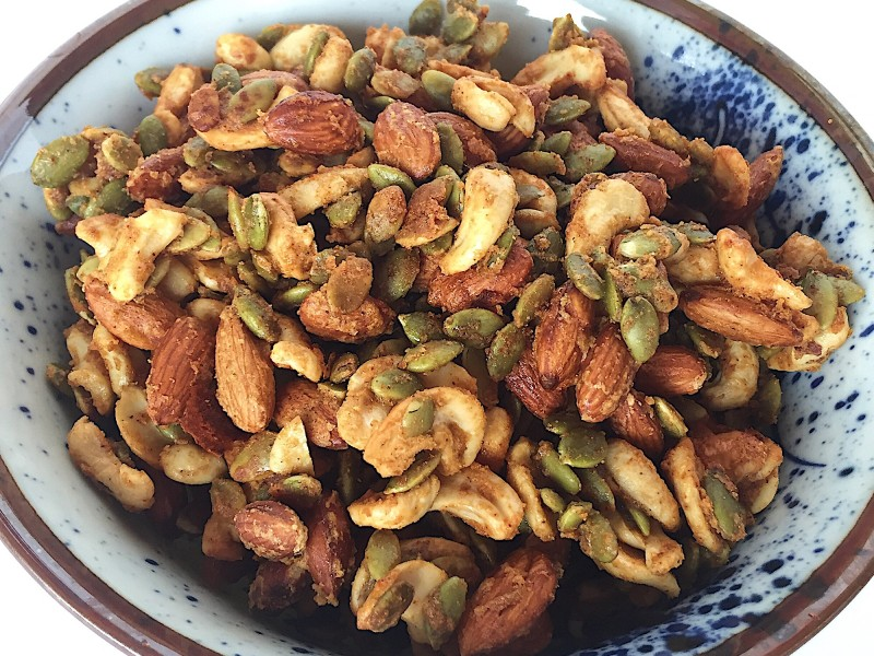 Honey Mustard and Onion Roasted Nuts