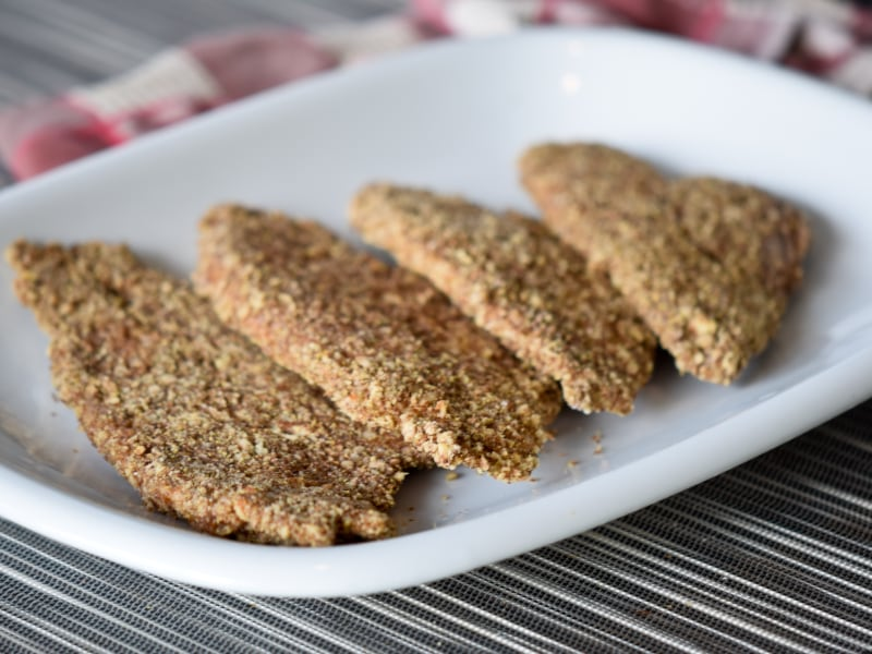 Flax and Pecan-Crusted Flounder