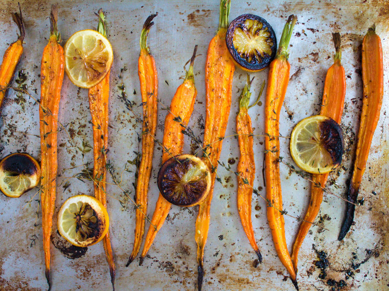 Roasted Carrots with Lemon and Thyme