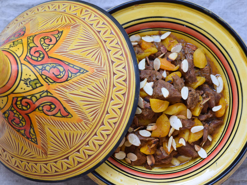 Pressure Cooker Beef and Apricot Tagine