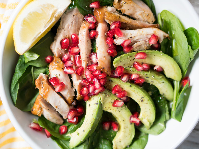 Quick Chicken and Pomegranate Salad