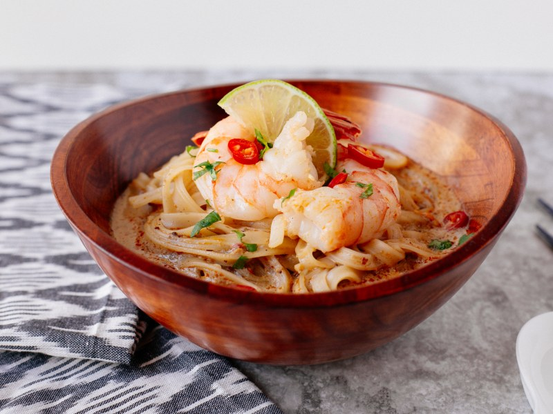 Quick Chile and Prawn Laksa