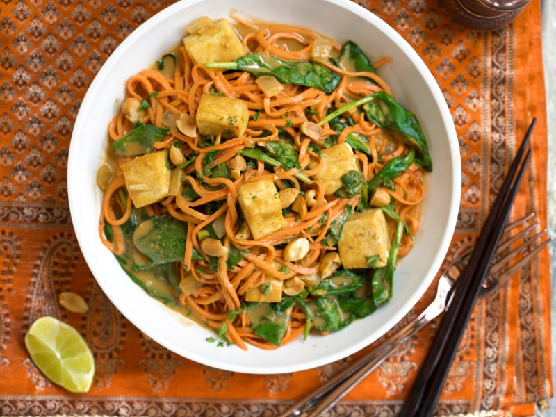 Spiralized Sweet Potato Pad Thai