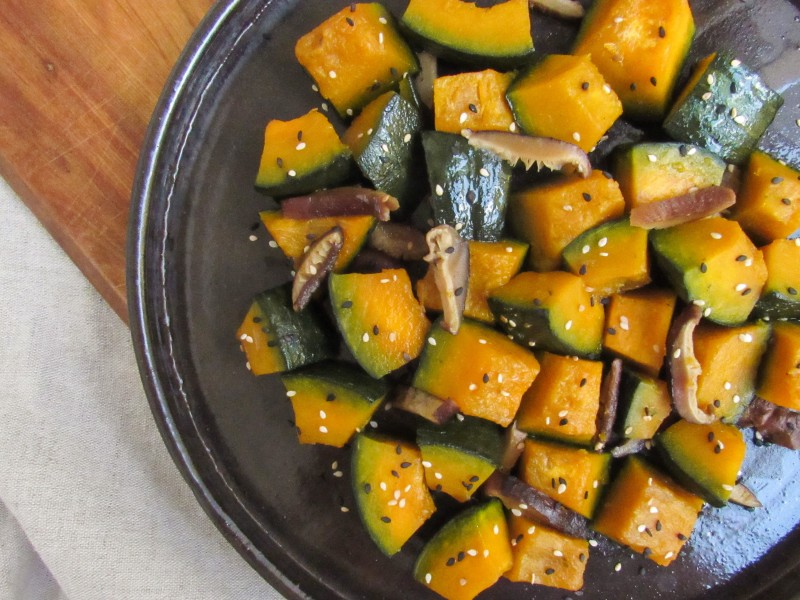 Braised Kabocha Squash in Shiitake Broth