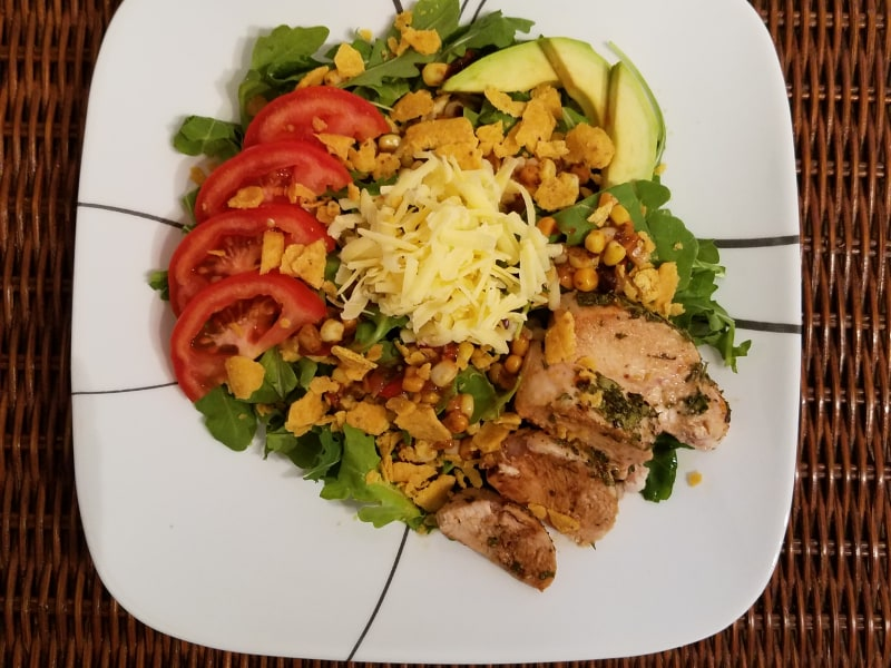 Habañero-Spiced Taco Salad with Cilantro-Lime Baked Chicken