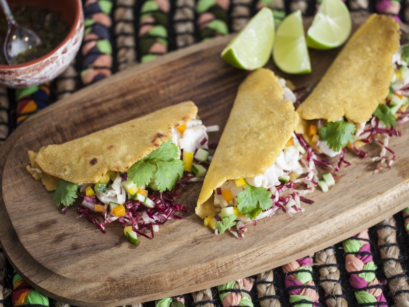 Fish Tacos with Thai Chili Oil
