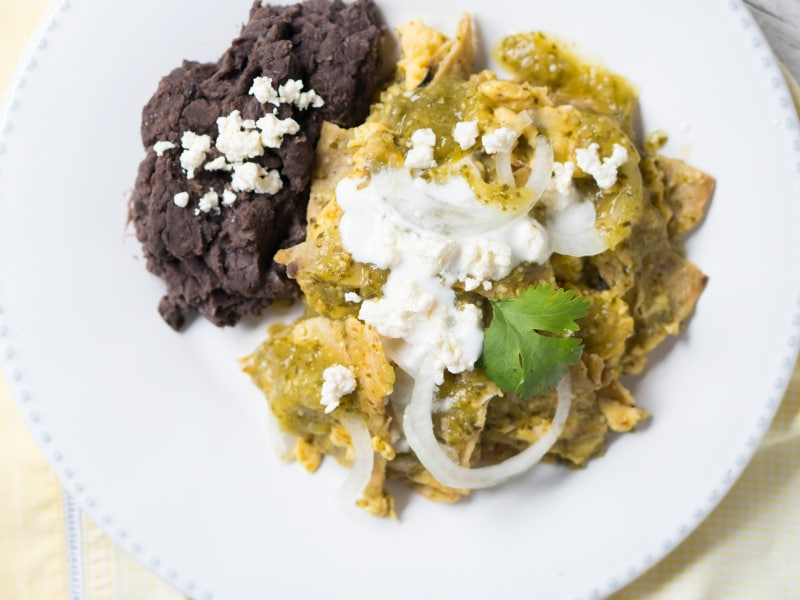 Mexican Salsa Verde Chilaquiles
