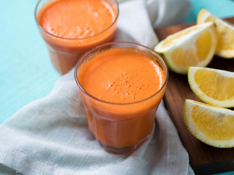 Ginger, Carrot, and Orange Immune-Boosting Juice