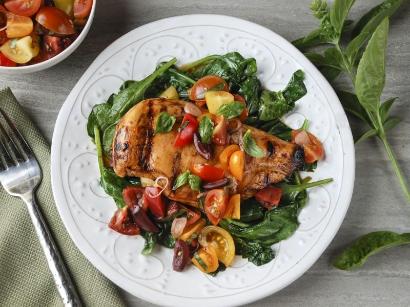 Grilled Balsamic-Honey Bruschetta Chicken
