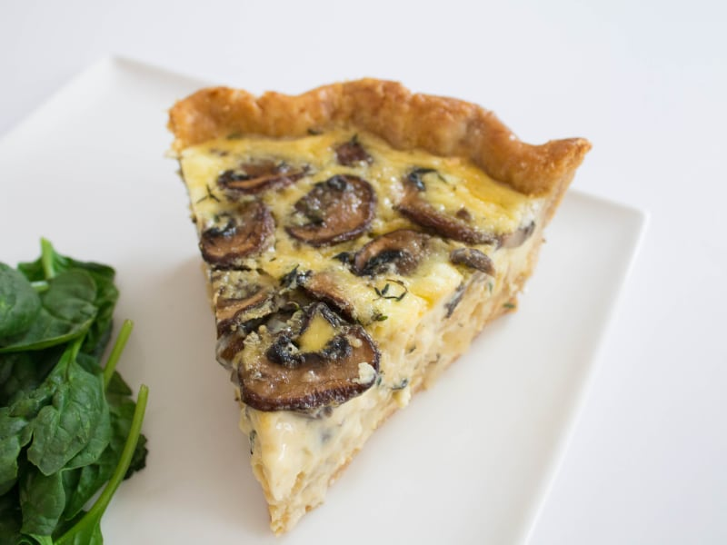 Mushroom and Caramelized Onion Quiche