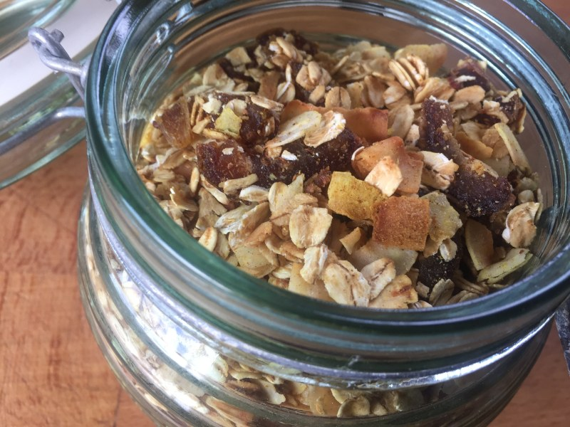 Curry-Spiced Granola with Coconut and Dates