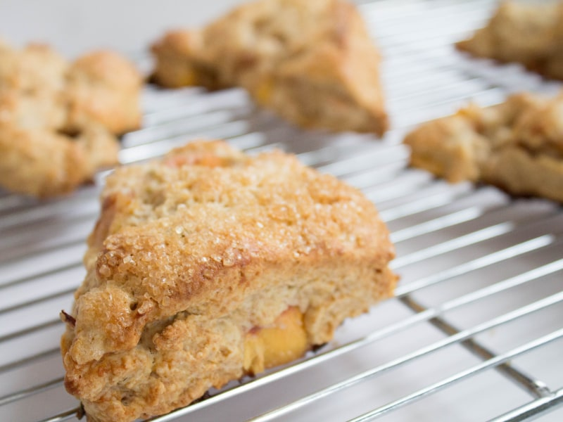 Peach Buttermilk Scones