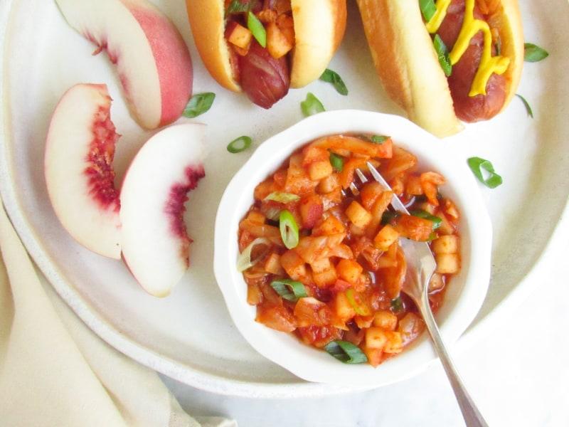 Kimchi-Peach Relish