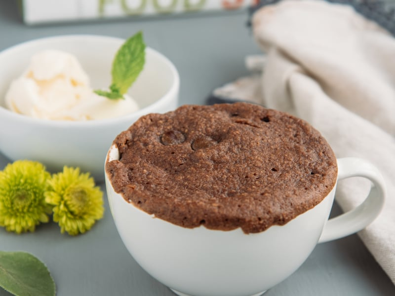 Gluten-Free Chocolate Cake In A Mug