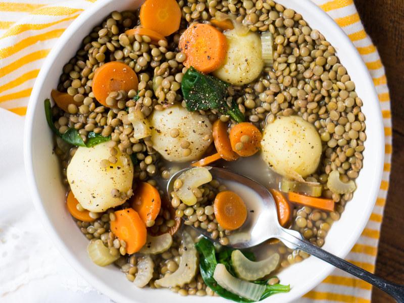 Pressure Cooker Lentil Stew