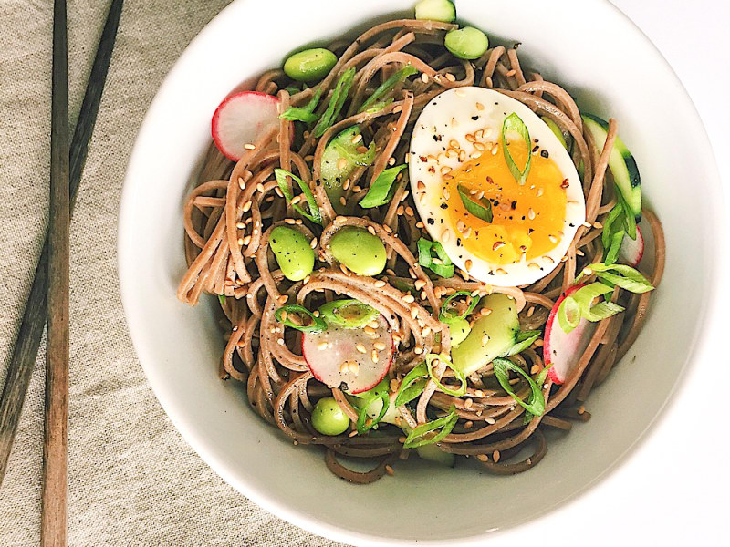 Lemon-Miso Soba Noodle Bowl