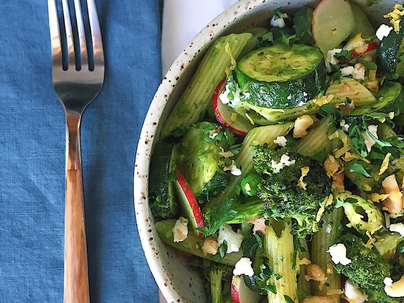 Springy Chimichurri Pasta Salad
