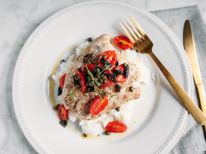 Pressure Cooker Steamed Mediterranean Fish