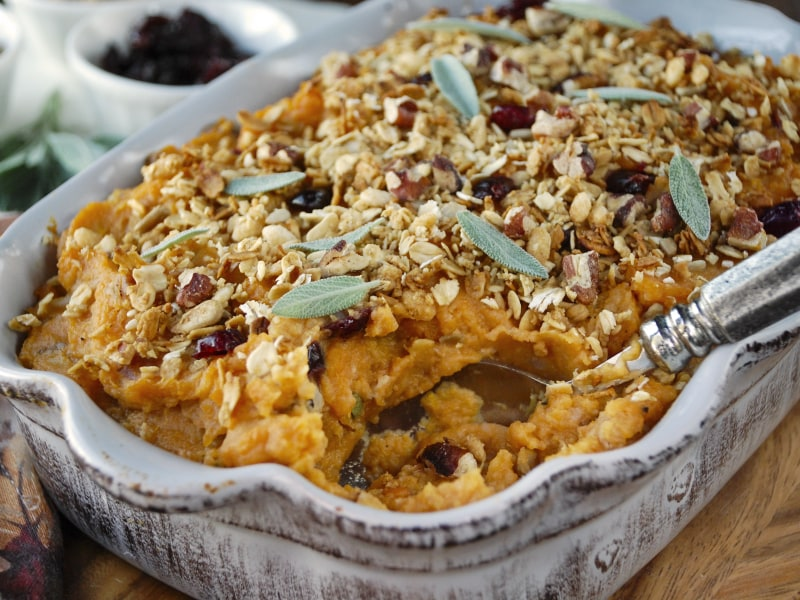 Mashed Sweet Potato and Cauliflower Bake
