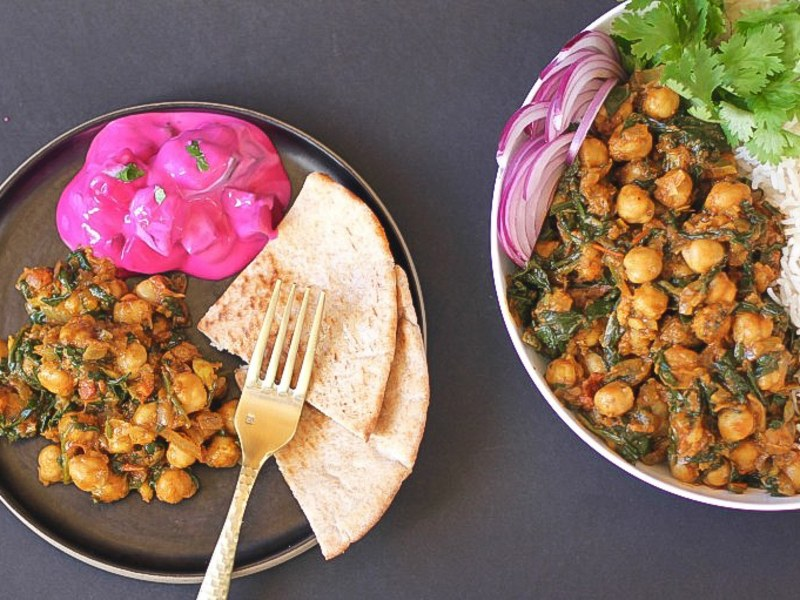 Slow Cooker Chana Saag