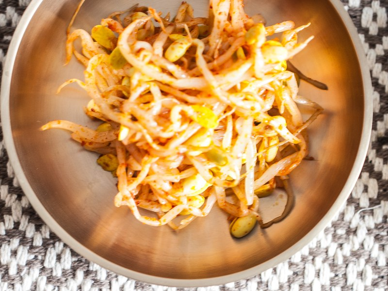 Korean Spicy Soybean Sprouts Banchan Side Dish