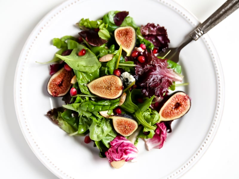 Wild Green Salad with Figs