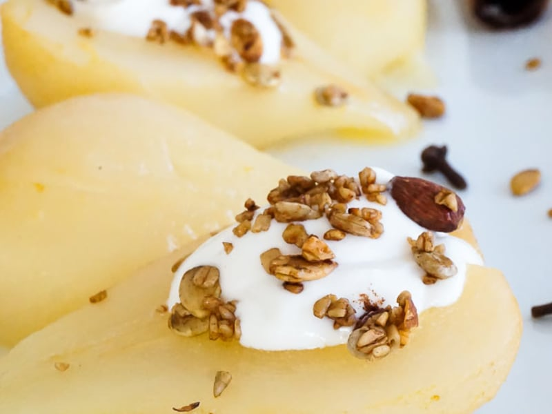 Citrus-Braised Pears with Whipped Honey Ricotta