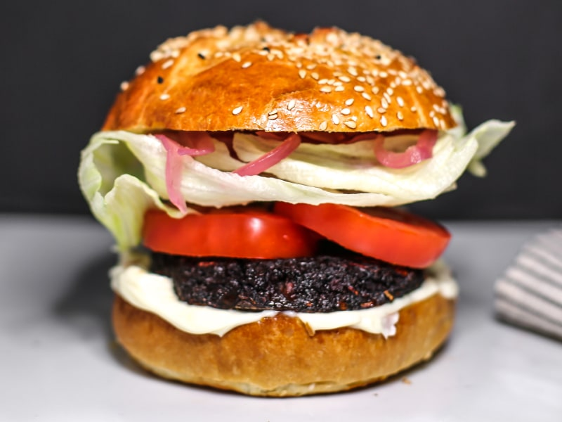 Portabello Mushroom and Beet Burgers