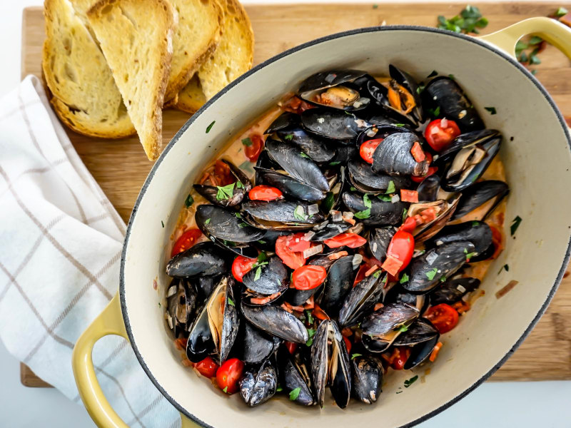 Spanish-Style Mussels with Chorizo