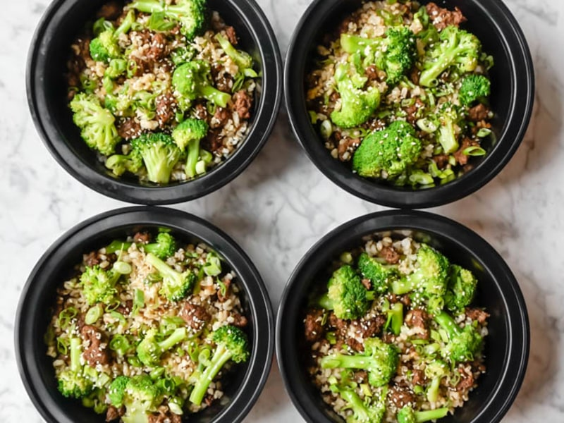 Meal Prep: Beef and Broccoli with Rice