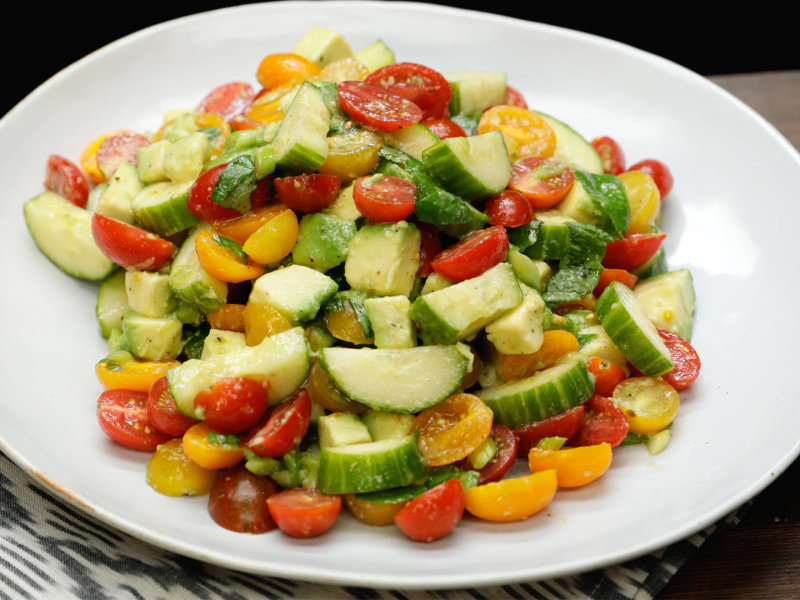Cucumber-Avocado Salad