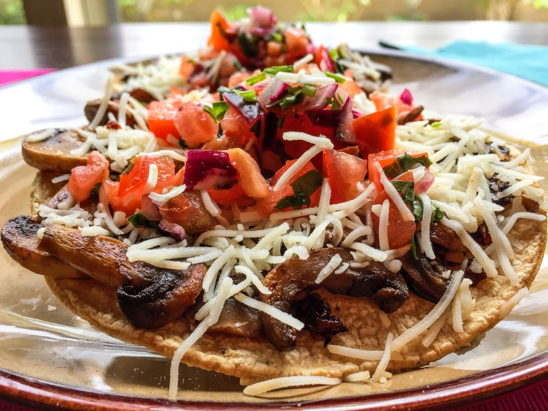 Chipotle Mushroom Tostadas with Pico de Gallo