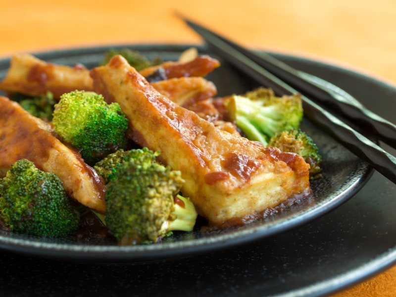 General Tso's Sheet Pan Tofu