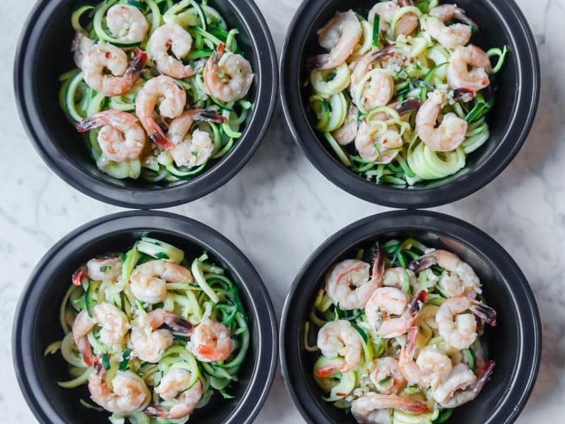Meal Prep: Shrimp Scampi Zoodles