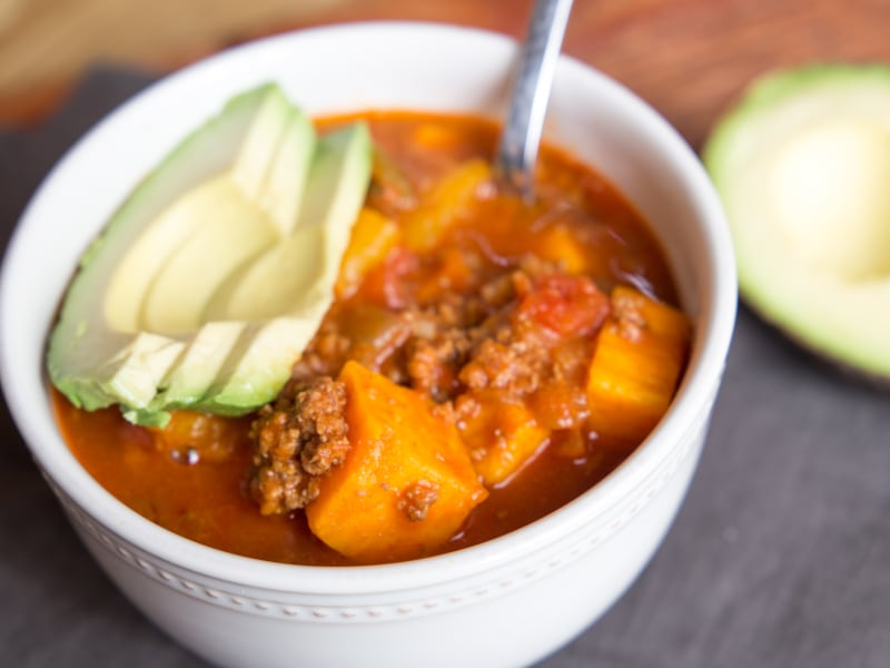 Pressure Cooker Bison and Sweet Potato Chili