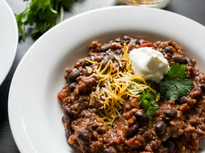 Pressure Cooker Vegetarian Chili