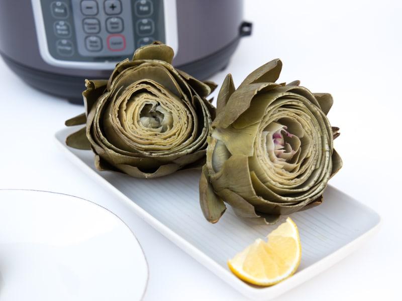 Pressure Cooker Steamed Artichoke