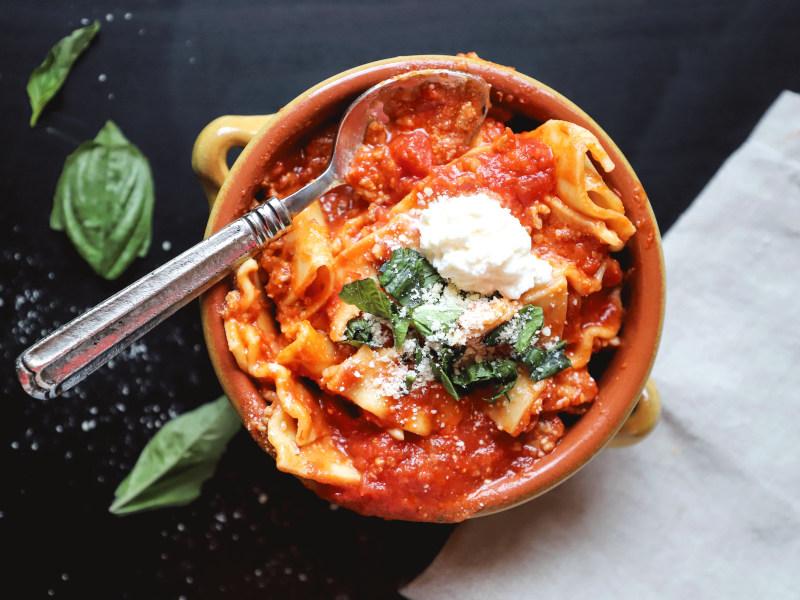 Pressure Cooker Vegan Lasagna Soup