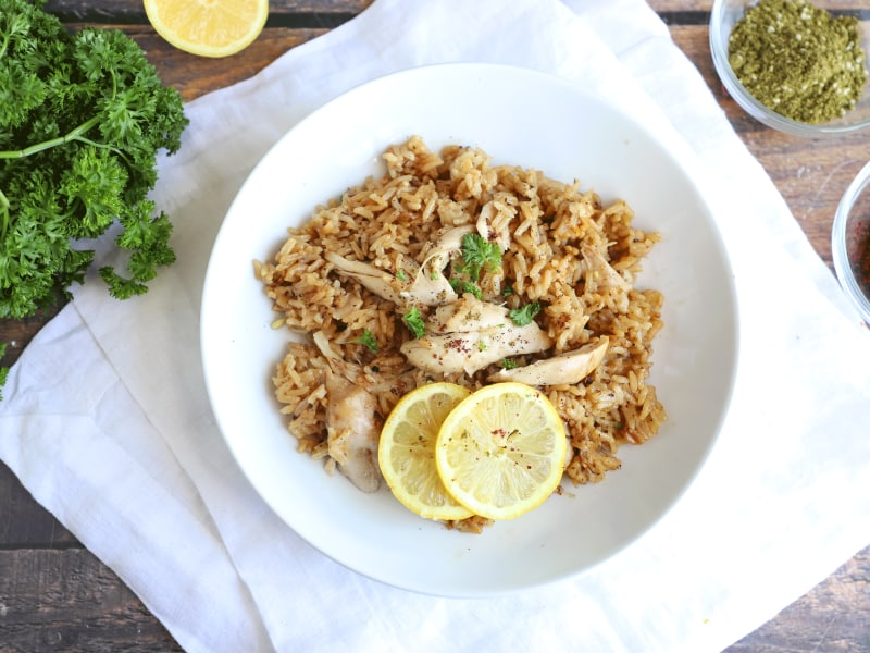 Pressure Cooker Za'atar Chicken with Lemony Rice