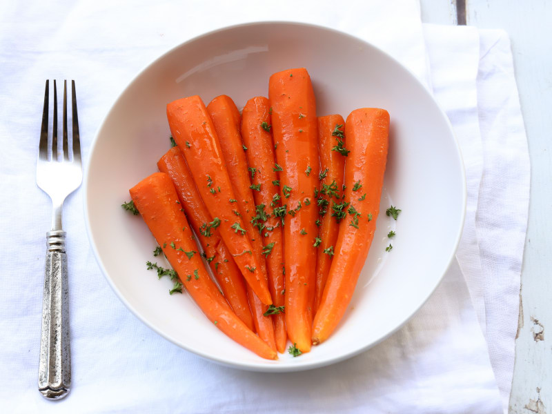 Pressure Cooker Honey-Glazed Carrots