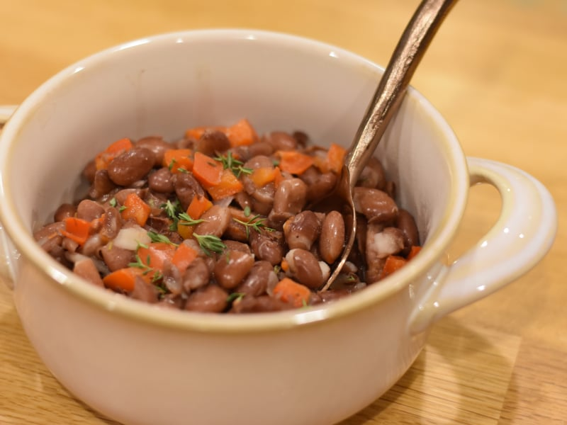 Pressure Cooker Vegan Red Beans
