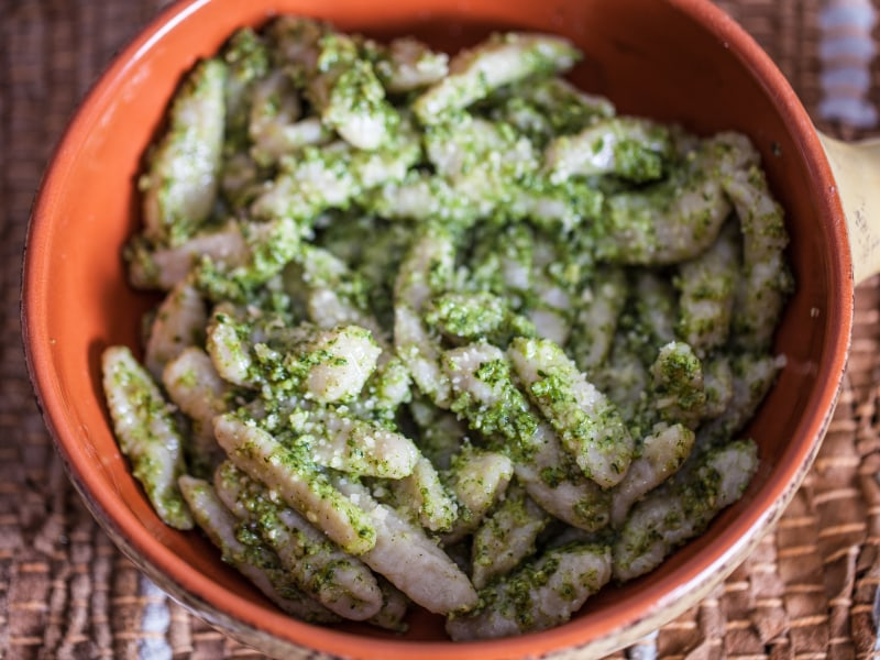 Potato Gnocchi with Arugula Pesto