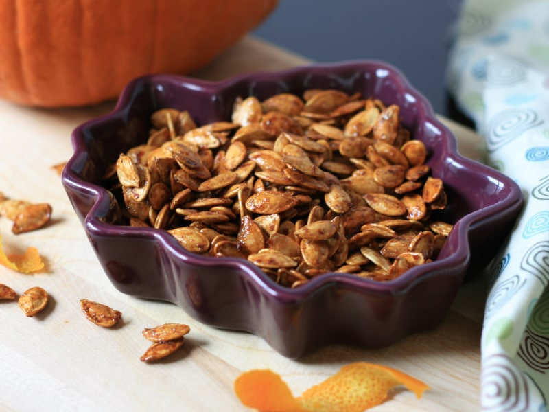 Air Fryer Orange-Cardamom Pumpkin Seeds