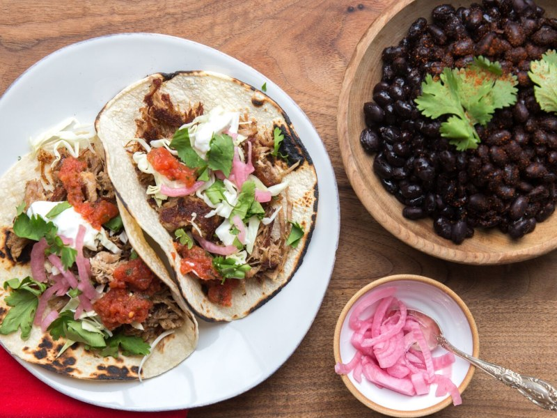 Pressure Cooker Carnitas and Beans