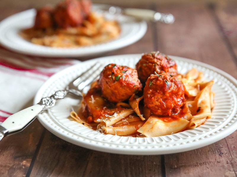Pressure Cooker Turkey Meatballs in Tomato Sauce