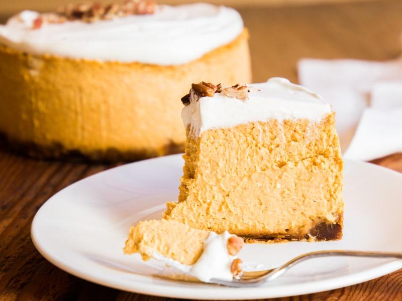 Pressure Cooker Pumpkin Pie Cheesecake