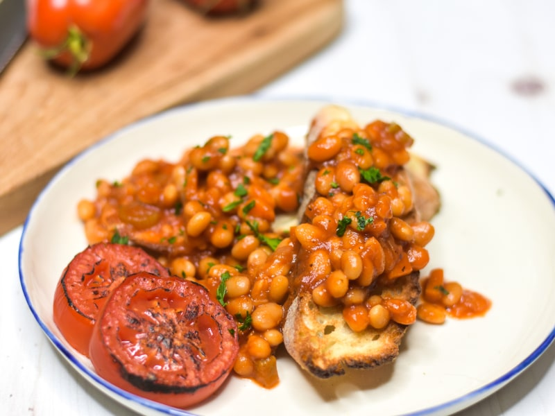 Pressure Cooker Baked Beans on Toast